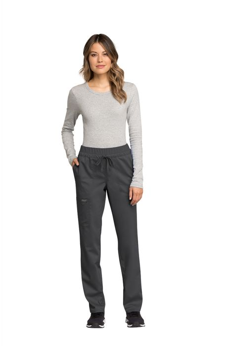 6f1505894d3 Cherokee Workwear WW Revolution WW105 Women's Mid Rise Tapered Leg  Drawstring Pant